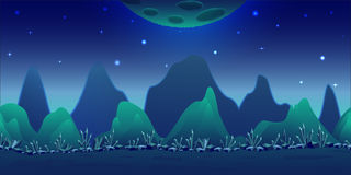 Fond bleu de jeu de planète Photographie stock