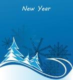 Fond bleu de l'hiver Photo libre de droits