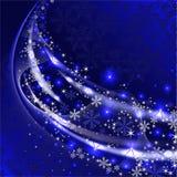 Fond bleu de l'hiver illustration de vecteur