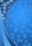 Fond bleu de l'hiver Photographie stock
