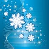 Fond bleu de l'hiver Image libre de droits