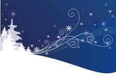 Fond bleu de l'hiver Photos stock