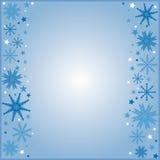 Fond bleu de l'hiver Image stock