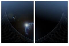 Fond bleu de la terre Images stock