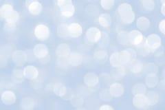 Fond bleu de lumières de Noël Photographie stock libre de droits