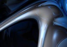 Fond bleu de metall Photos libres de droits