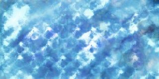 Fond bleu de modèle d'abrégé sur aquarelle images libres de droits