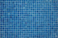 Fond bleu de mosaïque Photo libre de droits