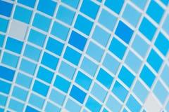 Fond bleu de mosaïque Photographie stock
