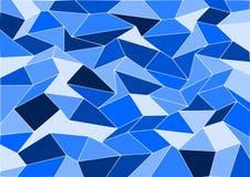 Fond bleu de mosaïque de tuile de vecteur Images stock