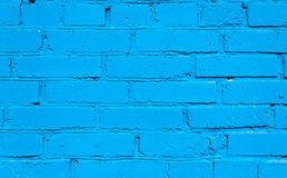 Fond bleu de mur de briques Photo stock