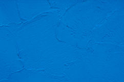 Fond bleu de mur en béton Photos libres de droits