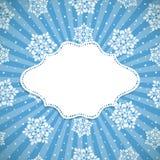 Fond bleu de Noël Photographie stock