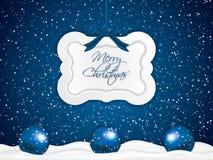 Fond bleu de Noël Photos libres de droits