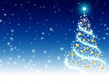 Fond bleu de Noël illustration de vecteur