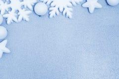 Fond bleu de Noël photo libre de droits