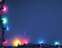 Fond bleu de Noël Images libres de droits