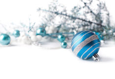 Fond bleu de Noël Photo stock