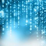 Fond bleu de Noël Image stock