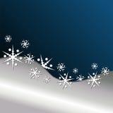 Fond bleu de Noël Image libre de droits