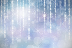 Fond bleu de Noël avec des flocons de neige Images libres de droits