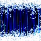 Fond bleu de Noël d'étincelle Illustration de Vecteur