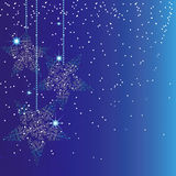 Fond bleu de Noël d'étincelle abstraite Image libre de droits