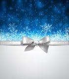 Fond bleu de Noël d'hiver Image libre de droits