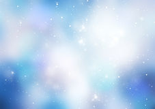 Fond bleu de Noël d'hiver d'abrégé sur l'espace illustration libre de droits