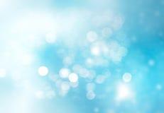 Fond bleu de Noël d'hiver d'abrégé sur l'espace Photos stock