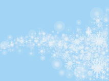 Fond bleu de Noël de couleur Images libres de droits