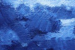 Fond bleu de peinture à l'huile Image libre de droits