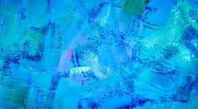Fond bleu de peinture Images libres de droits