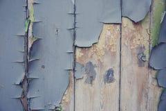 Fond bleu de peinture d'épluchage Images libres de droits