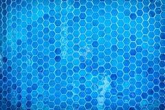 Fond bleu de piscine Photographie stock