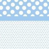 Fond bleu de points de polka Photo libre de droits