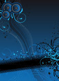 Fond bleu de réception Photographie stock libre de droits