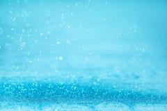 Fond bleu de scintillement photo stock