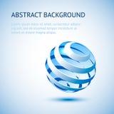Fond bleu de sphère Photo stock