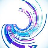 Fond bleu de spirale de techno de vecteur abstrait Image stock