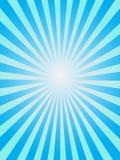 Fond bleu de sunray Photos stock