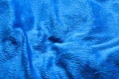 Fond bleu de tapis de tissu Photos libres de droits