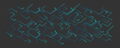 Fond bleu de techno de vecteur conseil ou puce nanotechnology Images stock