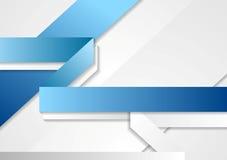 Fond bleu de technologie lumineuse et blanc d'entreprise Photo libre de droits