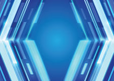 Fond bleu de technologie numérique de lumière laser Image stock