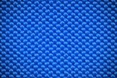 Fond bleu de textile de fibre Image libre de droits