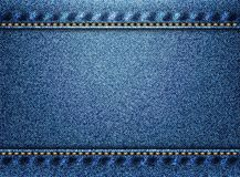 Fond bleu de texture de denim Photos libres de droits