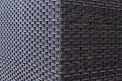 Fond bleu de texture de rotin Photographie stock libre de droits