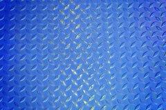 Fond bleu de texture en métal Photo libre de droits