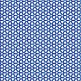 Fond bleu de tissu de modèle de Stars Triangle Geometric de barrière Photographie stock libre de droits